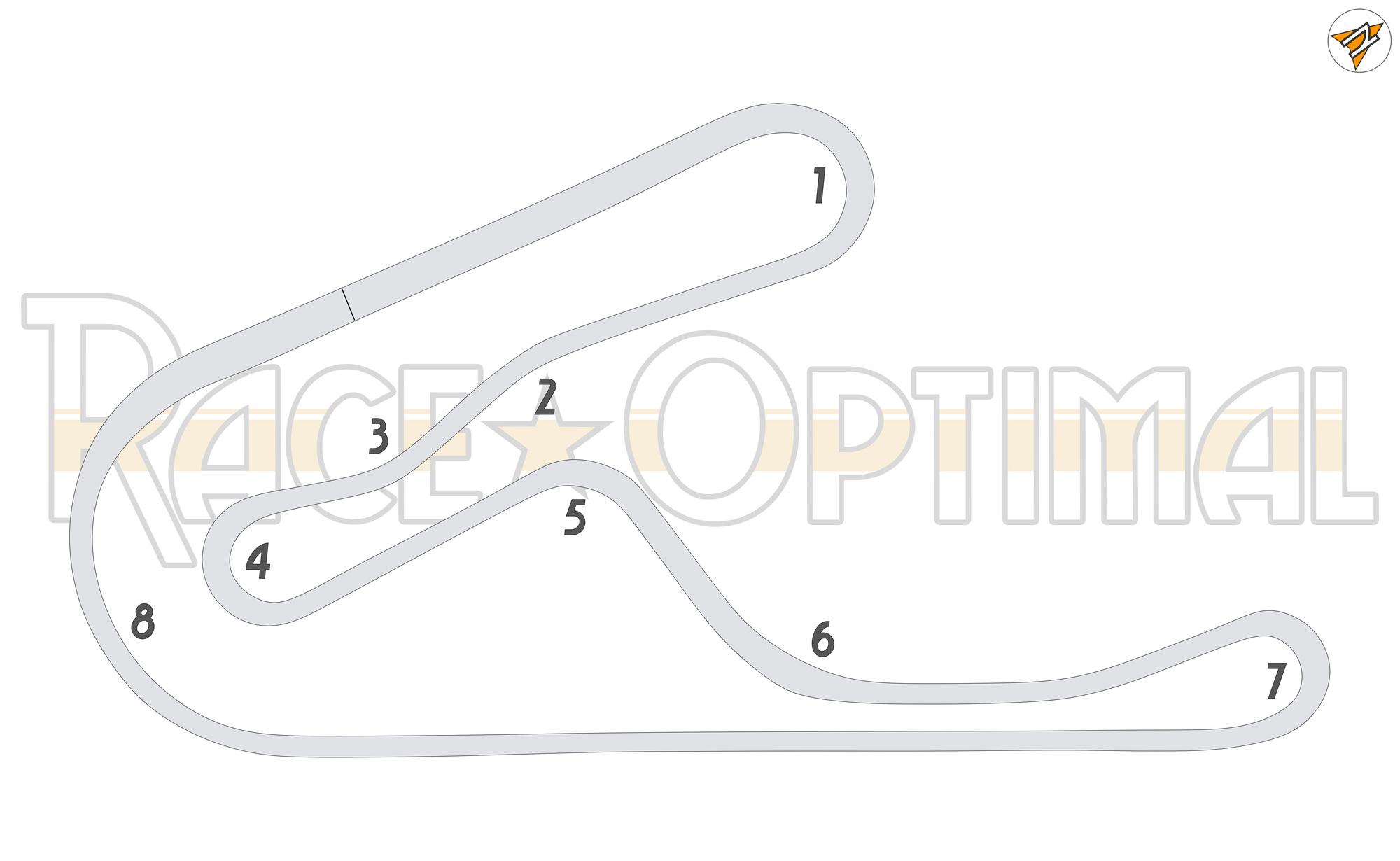racing line map at tsukuba circuit