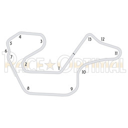 Trackday optimized racing lines for Canaan Fair Speedway - CCW