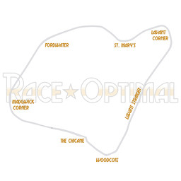 Trackday optimized racing lines for Goodwood Circuit